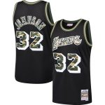 Mitchell & Ness Magic Johnson Los Angeles Lakers Black Straight Fire Camo Swingman Jersey