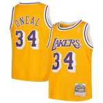 Mitchell & Ness Shaquille O'Neal Los Angeles Lakers Youth Gold Swingman Throwback Jersey