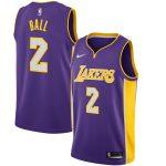 Nike Lonzo Ball Los Angeles Lakers Purple Swingman Jersey - Statement Edition