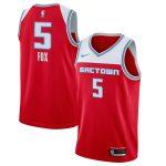 Nike De'Aaron Fox Sacramento Kings Red 2019/20 Finished City Edition Swingman Jersey