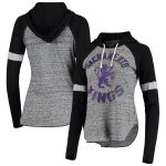 Touch Sacramento Kings Women's Black Season Opener Raglan Hoodie Long Sleeve T-Shirt
