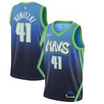 Nike Dirk Nowitzki Dallas Mavericks Blue 2019/20 Finished City Edition Swingman Jersey