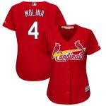 Majestic Yadier Molina St. Louis Cardinals Women's Scarlet Plus Size Fashion Cool Base Player Jersey