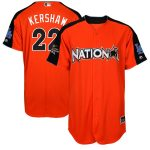 Majestic Clayton Kershaw National League Orange 2017 MLB All-Star Game Authentic Home Run Derby Jersey