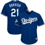 Majestic Yu Darvish Los Angeles Dodgers Royal 2017 World Series Bound Cool Base Player Jersey