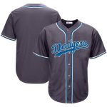 Los Angeles Dodgers Charcoal Big & Tall Fashion Jersey