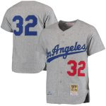 Mitchell & Ness Sandy Koufax Los Angeles Dodgers Gray Authentic Jersey