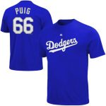 Majestic Yasiel Puig Los Angeles Dodgers Royal Big & Tall Official Player T-Shirt