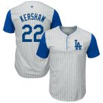 Majestic Clayton Kershaw Los Angeles Dodgers Gray/Royal Big & Tall Pinstripe Player T-Shirt