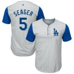 Majestic Corey Seager Los Angeles Dodgers Gray/Royal Big & Tall Pinstripe Player T-Shirt