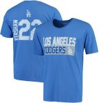 Majestic Threads Clayton Kershaw Los Angeles Dodgers Royal Sidewinder Name & Number T-Shirt