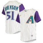 Nike Randy Johnson Arizona Diamondbacks Youth Cream Alternate Cooperstown Collection Player Jersey