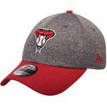 New Era Arizona Diamondbacks Adult Heathered Gray/Red 39THIRTY Shadow Tech Flex Hat