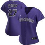 Nike Trevor Story Colorado Rockies Women's Purple Alternate 2020 Replica Player Jersey