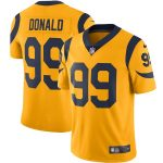 Nike Aaron Donald Los Angeles Rams Gold Color Rush Vapor Limited Jersey