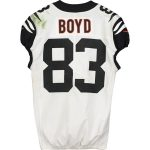 Fanatics Authentic Tyler Boyd Cincinnati Bengals Game-Used #83 White Jersey vs. Pittsburgh Steelers on September 30, 2019