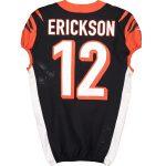 Fanatics Authentic Alex Erickson Cincinnati Bengals Game-Used #12 Black Jersey vs. Buffalo Bills on September 22, 2019