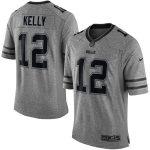 Nike Jim Kelly Buffalo Bills Gray Gridiron Gray Limited Jersey
