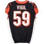 Fanatics Authentic Nick Vigil Cincinnati Bengals Game-Used #59 Jersey vs. Pittsburgh Steelers on November 24, 2019
