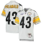 Mitchell & Ness Troy Polamalu Pittsburgh Steelers Youth Platinum NFL 100 Retired Player Legacy Jersey