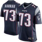 Nike John Hannah New England Patriots Navy Blue Retired Player Game Jersey