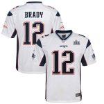 Nike Tom Brady New England Patriots Youth White Super Bowl LIII Bound Game Jersey