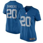 Nike Barry Sanders Detroit Lions Women's Blue 2017 Throwback Retired Player Game Jersey