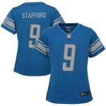Nike Matthew Stafford Detroit Lions Girls Youth Blue Game Jersey