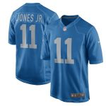 Nike Marvin Jones Jr Detroit Lions Blue Throwback Game Jersey