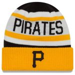 New Era Pittsburgh Pirates White/Gold Biggest Fan 2.0 Cuffed Knit Hat