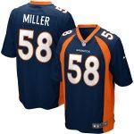 Nike Von Miller Denver Broncos Navy Blue Alternate Game Jersey