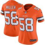 Nike Von Miller Denver Broncos Women's Orange Color Rush Limited Jersey