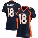 Nike Peyton Manning Denver Broncos Women's Navy Blue Game Jersey