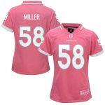 Von Miller Denver Broncos Girls Youth Pink Bubble Gum Jersey