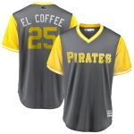 "Majestic Gregory Polanco ""El Coffee"" Pittsburgh Pirates Gray/Yellow 2018 Players' Weekend Cool Base Jersey"