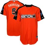 Majestic Josh Harrison National League Orange 2017 MLB All-Star Game Home Run Derby Player Jersey