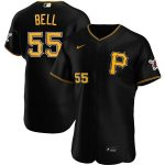 Nike Josh Bell Pittsburgh Pirates Black Alternate 2020 Authentic Player Jersey