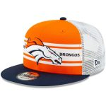 New Era Denver Broncos Orange/Navy Classic 77 Stripe Mesh 9FIFTY Adjustable Hat