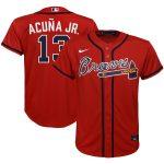 Nike Ronald Acuna Jr. Atlanta Braves Youth Red Alternate 2020 Replica Player Jersey