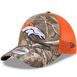 New Era Denver Broncos Realtree Camo/Orange Trucker 39THIRTY Flex Hat