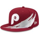 New Era Philadelphia Phillies Red Brush 59FIFTY Fitted Hat