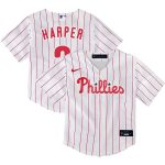 Nike Bryce Harper Philadelphia Phillies Toddler White Home 2020 Replica Player Jersey
