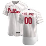 Nike Philadelphia Phillies White/Scarlet 2020 Home Authentic Custom Jersey
