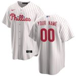 Nike Philadelphia Phillies Youth White/Scarlet 2020 Home Replica Custom Jersey