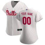 Nike Philadelphia Phillies Women's White/Scarlet 2020 Home Replica Custom Jersey