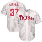 Majestic Odubel Herrera Philadelphia Phillies White/Scarlet Home Official Cool Base Replica Player Jersey