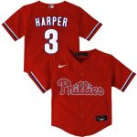 Nike Bryce Harper Philadelphia Phillies Toddler Red Alternate 2020 Replica Player Jersey