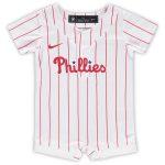 Nike Philadelphia Phillies Newborn & Infant White Official Jersey Romper