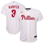 Nike Bryce Harper Philadelphia Phillies Preschool White Home 2020 Replica Player Jersey