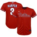 Nike Bryce Harper Philadelphia Phillies Preschool Red Alternate 2020 Replica Player Jersey